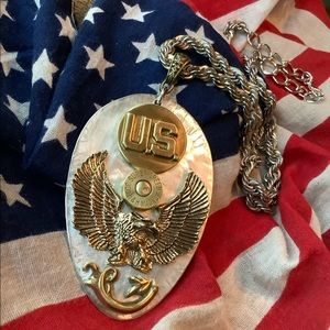 Eagle ammunition casing necklace